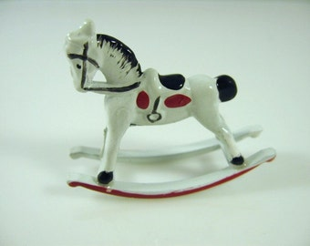 Dolls house miniature rocking horse