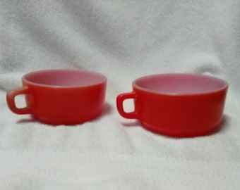 Vintage Anchor Hocking Chili Bowls - Set of Two