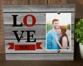 Couples Picture Frame, Couples Photo Frame, Personalized Frame, Couples Gift, Love You More, Picture Frame, 4x6 Picture Frame