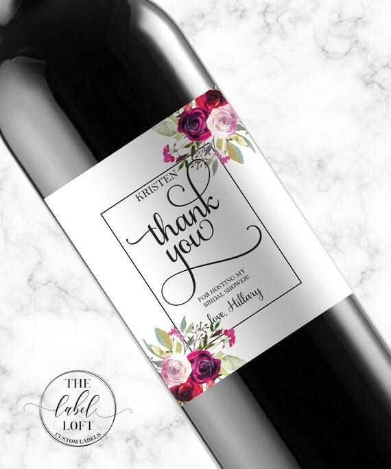 Shower Hostess Gift Wine Labels Baby Shower Hostess Gift