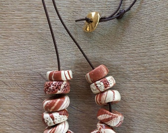 "Ceramc Necklace"" Terrakotta"""