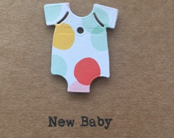 New Baby card.Handmade. Newborn. Personalised. Boy. Girl.