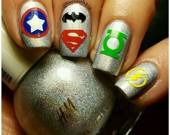 Heroes to the Rescue Nail Decal
