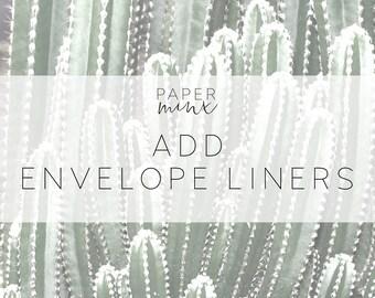 Envelope Liners | Add Envelope Liners | Custom Envelope Liner | Printed Envelope Liners