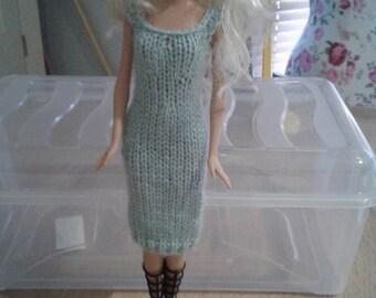 Duck egg Knitted Dress
