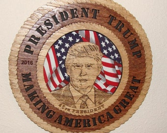 Donald Trump Commemorative Plaque