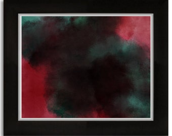 """Red and Green Watercolor Digital Print 8""""x10"""""""