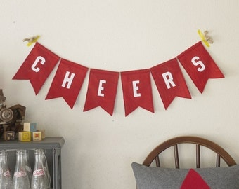 Little Letterman Cheers Bunting