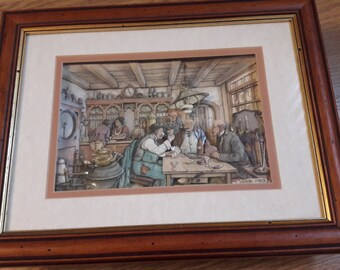 Decoupage Anton Pieck picture-The Card Game