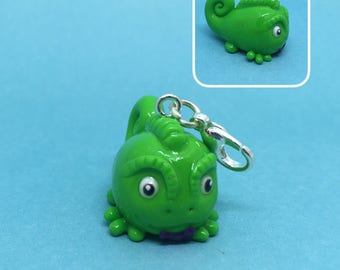 Chubby Pascal polymer clay charm, Rapunzel, Planner charm