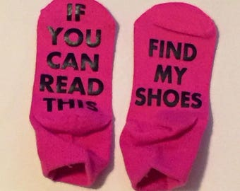 Toddler Socks If You Can Read This Find My Shoes Toddler Boy Girl Socks Funny Child Socks