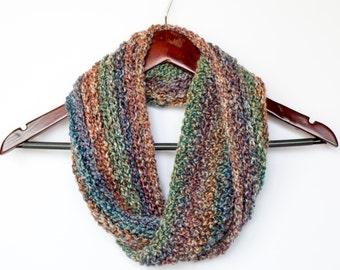 Cozy Crochet Cowl Scarf in Desertscape