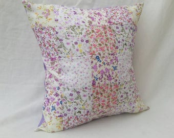 "Purple 16"" Patchwork Cushion"