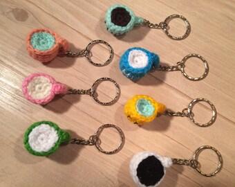 Crocheted Teacup Keyrings