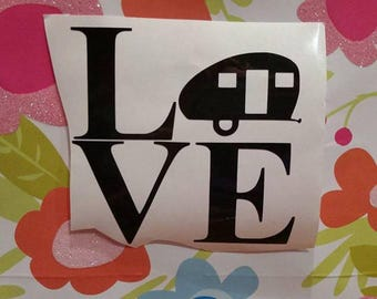 love/camper/decal/outdoor/car/cup/mug/tumber/fun