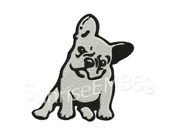 6 Sizes**French Bulldog Embroidery design- 8 formats machine embroidery design - Instant Download machine embroidery pattern