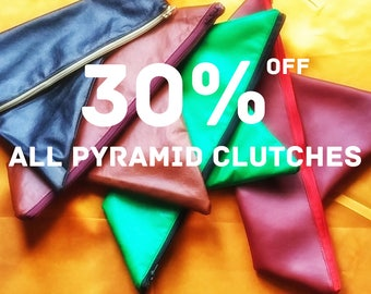 Pyramid Clutches, Was 29.20 NOW 20.44 Street Style Fashion