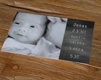 "Birthday cards | Baby cards ""black & white"" (30 PCs)"