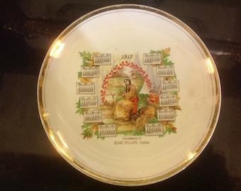 1912 Dresden Native American Calendar Plate