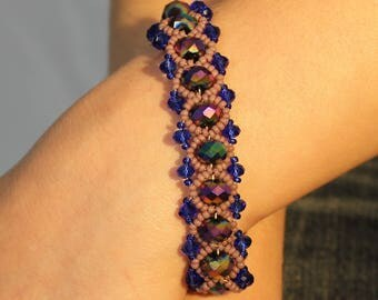 Violet Pearls Bracelet / Violet and Blue Bracelet / Violet Jewelry / Purple Bracelet / Women's Bracelet / Handmade Bracelet