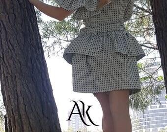 Green Skirt / New Cotton Skirt / Ruffle Skirt / Spring Skirt / Elegant Skirt / Circle Skirt
