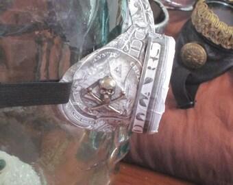 New World Order US Dollar & Silver Skull and crossbones black grey white goggles