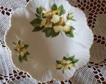Shelley Bone China Hibiscus Flower Dish
