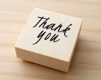 CLEARANCE SALE - Rubber stamp - Thank you