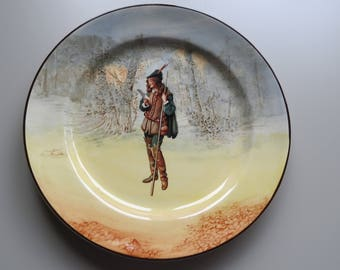 Vintage collectors plate featuring the lovely Rosalind in the forest. Produced by Royal Doulton.