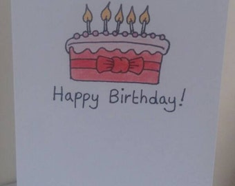 A5 Happy Birthday Card