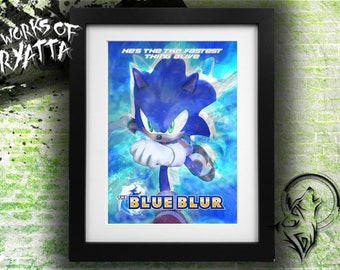 The Blue Blue/The Flash; Sonic The Hedgehog Print (2 Varients)