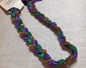 Braided Mardi Gras Headband.