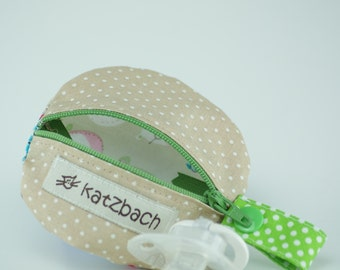 Pacifier pouch with press studs * Samantha *.