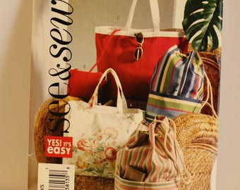 McCalls/Butterick See & Sew B4169 bag pattern