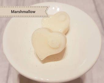 Soy Wax Melts - Marshmallow - Soy Wax Hearts - Handmade Soy Melts - Fragranced Wax Melts - Candle Melts - Glitter Wax Melts - Wax Tarts