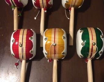 Drum tambourine handcrafted & hand painted