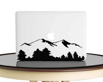 Mountain Decal, Mountain Sticker,Mountain Range,  Adventure Awaits, Laptop Decal, Car Decal, Macbook Decal, Laptop Sticker, Macbook Sticker