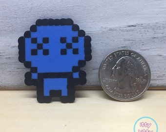 Binding of Isaac Blue Baby miniature perler magnet | mini perler art | indie game magnet | gifts for gamers
