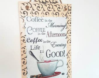 Coffee plaque