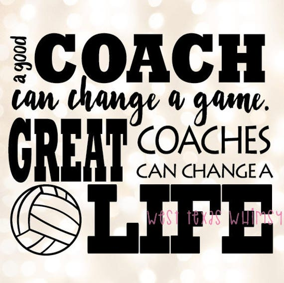 Famous Coaches Quotes: Volleyball Coach SVG, Best Coach Svg, Volleyball Svg