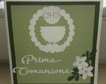 First Communion thank you card