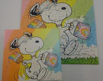Snoopy, Have a Rainbow Day, mini puzzle, Hallmark, Springbok, Peanuts