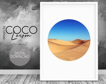 Desert print, desert art, desert photography, travel photo, sahara desert, desert landscape, digital art, dune print, wall art print