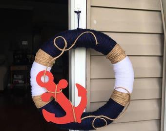 Nautical themed wreath