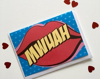 MWUAH - Greetings Card - Thank You Card - Note Card