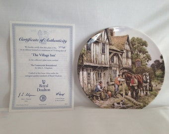 Royal Doulton, The Village Inn, Countryside Remembered Series, Ceramic Plate