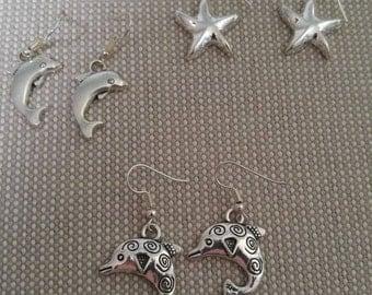Earrings of the sea! 3 pairs!