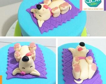 Edible Cute Little Puppy Cake Topper