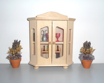 Mobile miniature, Miniature cupboard, Kitchen furniture for dolls, Madia miniature, Miniature Pantry, Mobile Dollhouse