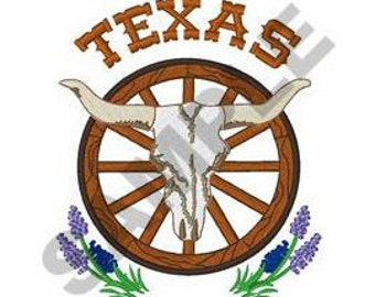 Texas Steer Skull - Machine Embroidery Design